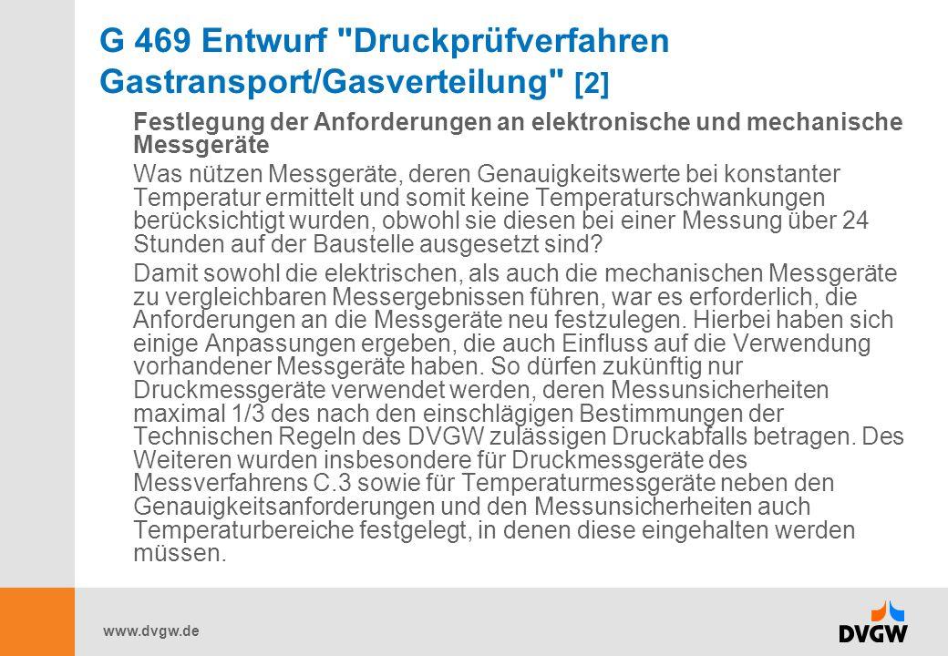 G 469 Entwurf Druckprüfverfahren Gastransport/Gasverteilung [2]